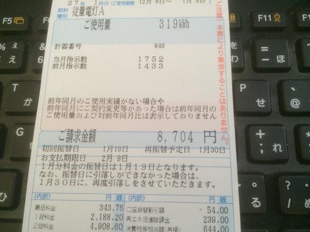 関西電力 電力使用量 12月