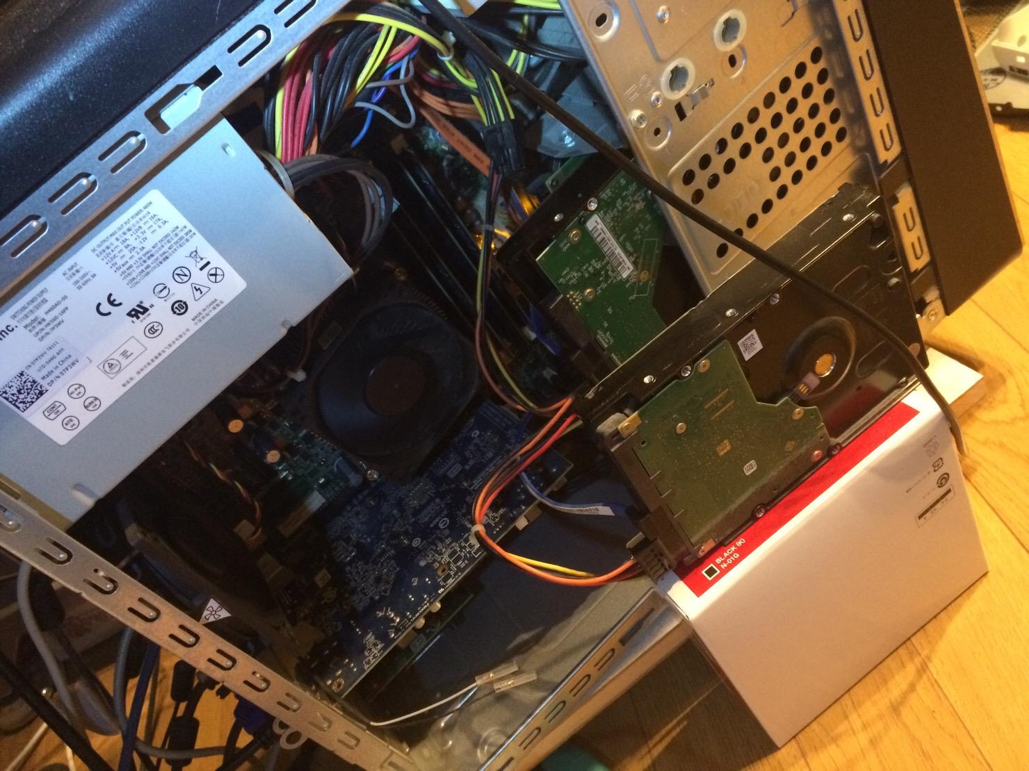 外付けHDDを内蔵接続
