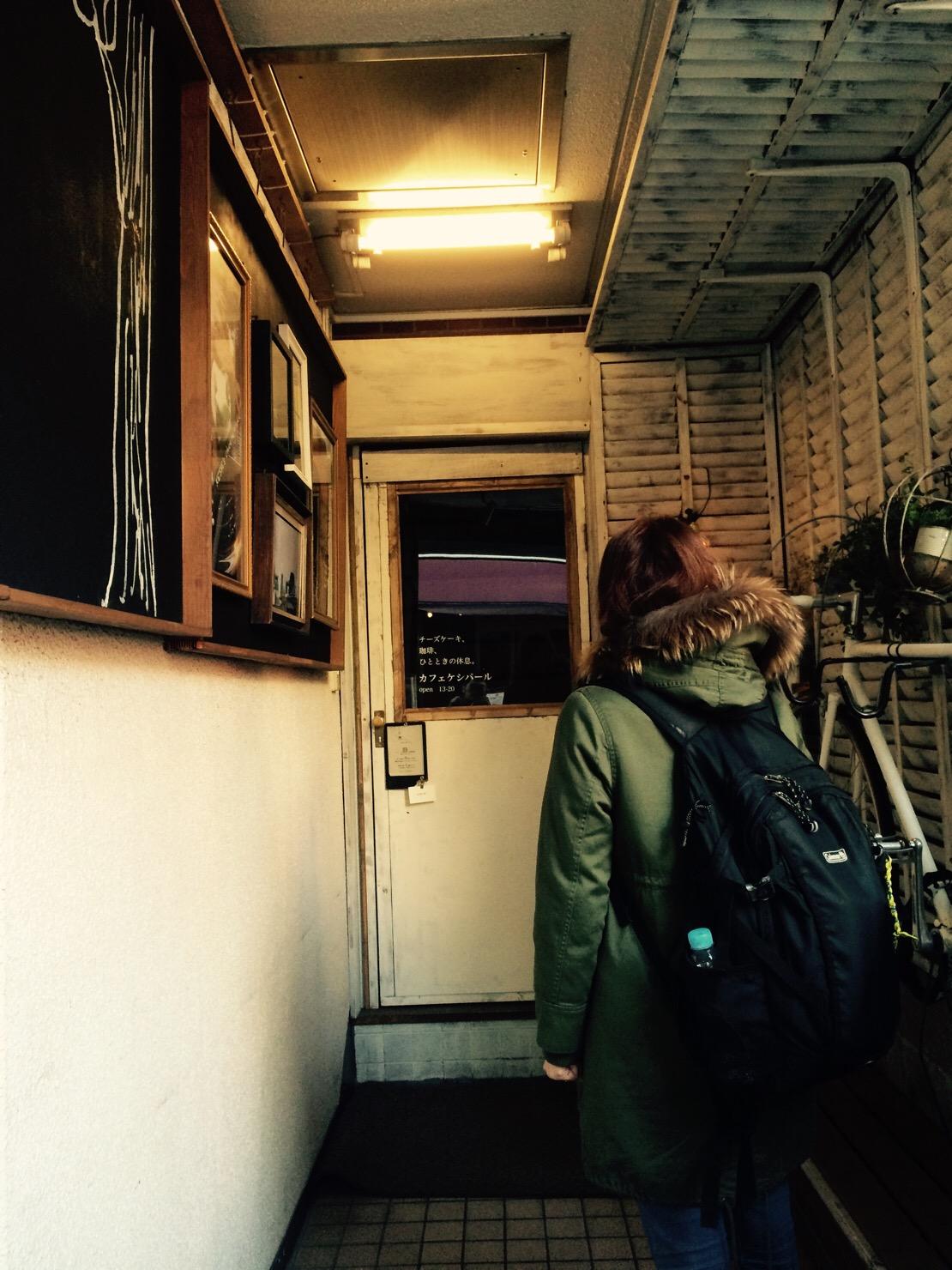 カフェ ケシパール 入り口